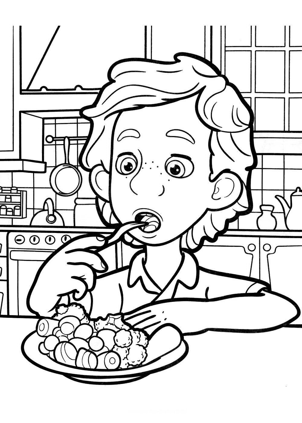 Дим Димыч ест овощи - раскраска №100 | Printonic.ru