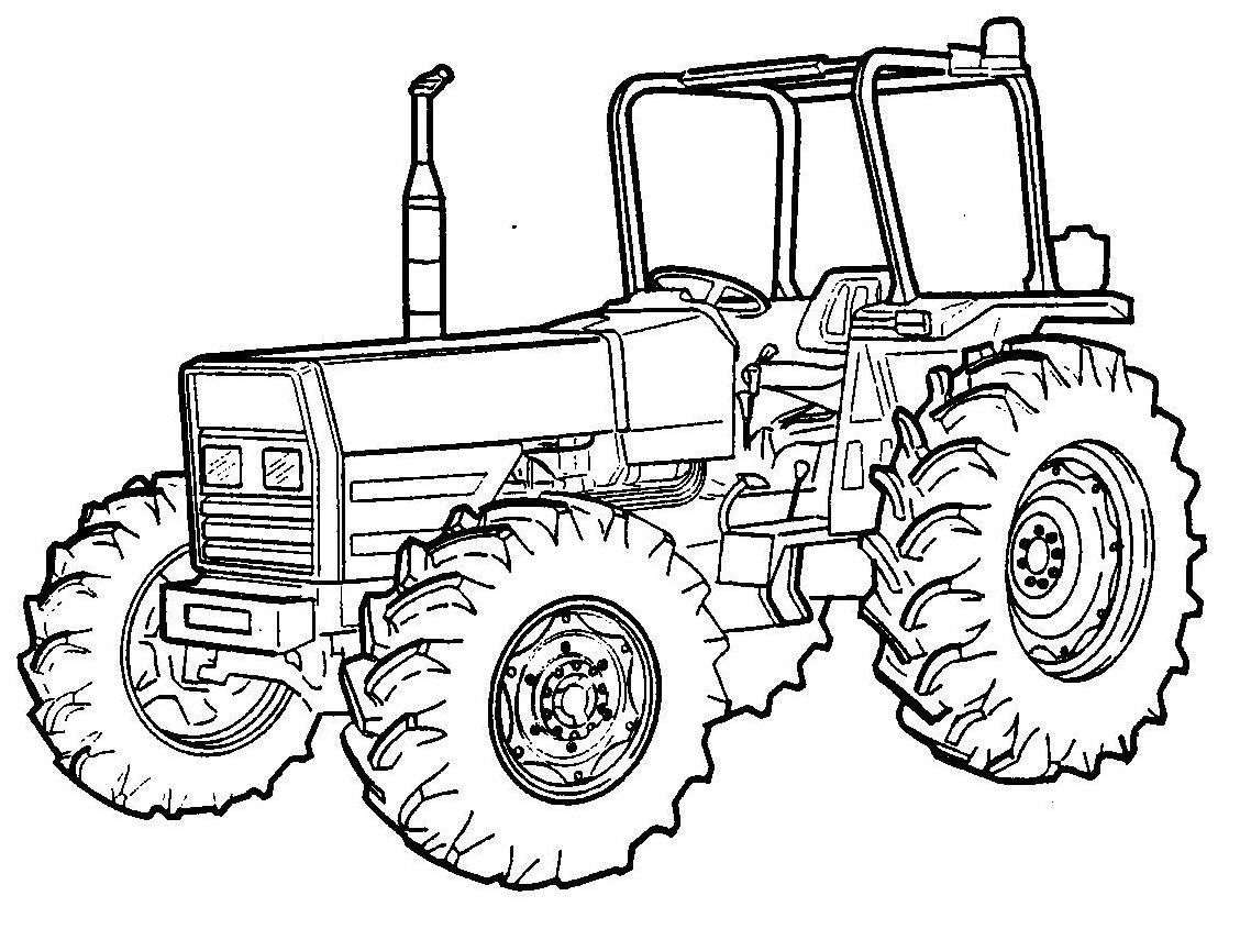 Трактор обычный - раскраска №221 | Printonic.ru