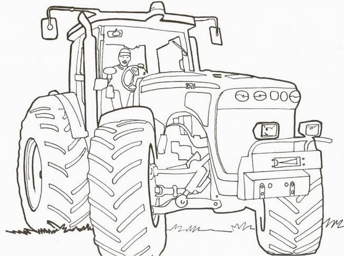 Трактор раскраска для малышей онлайн
