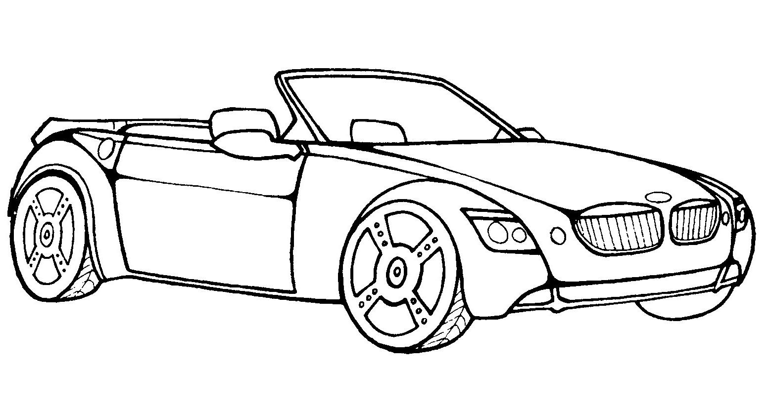 Легковая машина БМВ кабриолет - раскраска №259 | Printonic.ru