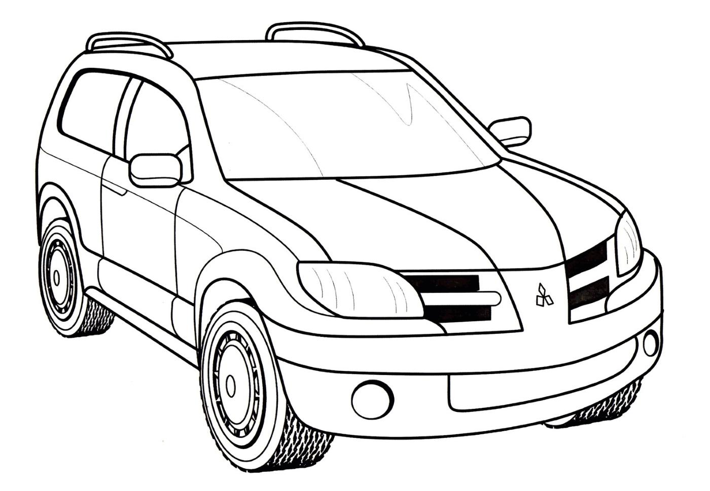 Машина Мицубиси Оутлендер - раскраска №271 | Printonic.ru