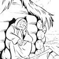 Старуха и корыто раскраска