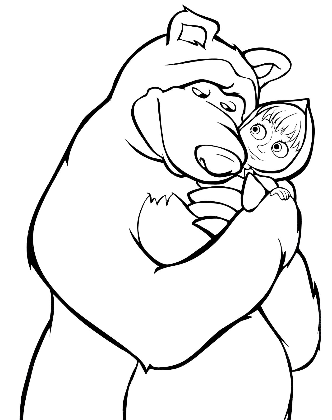 Маша и Медведь - раскраска №419 | Printonic.ru