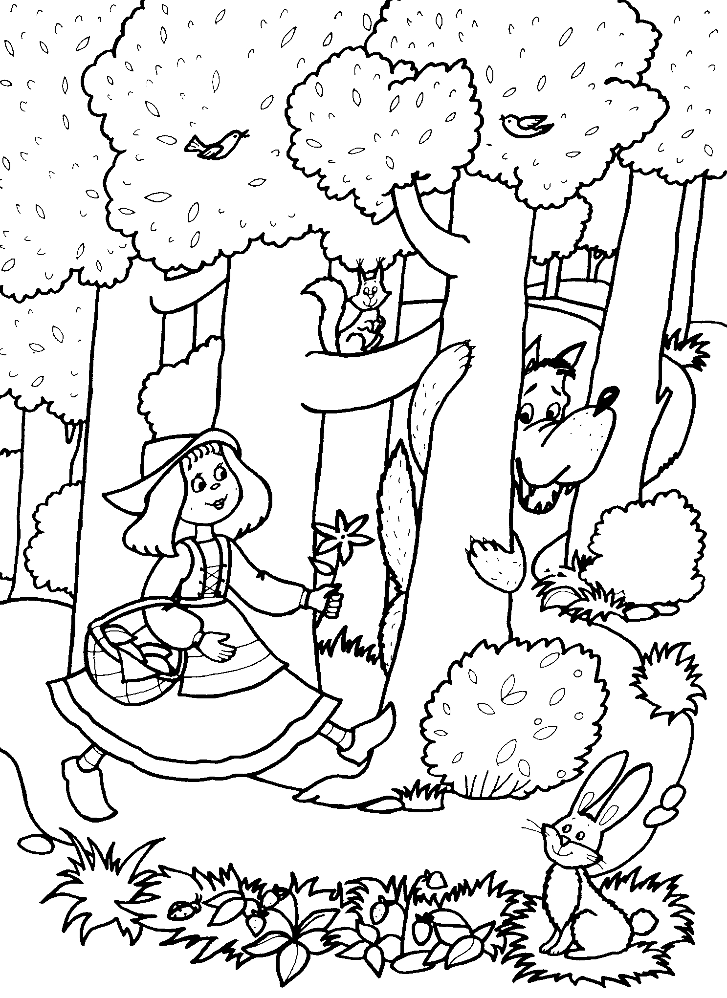 Рисунок лесная сказка карандашом