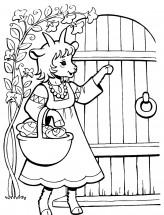 Раскраски по сказке Волк и семеро козлят: распечатать или ...