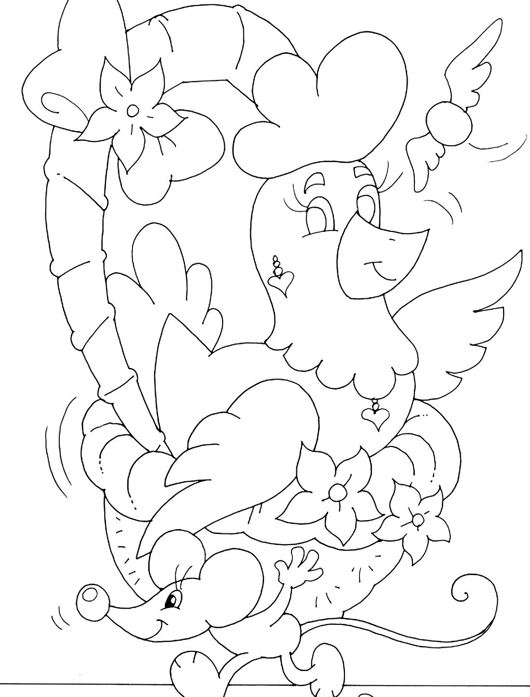 Курочка Ряба и мышонок - раскраска №720 | Printonic.ru
