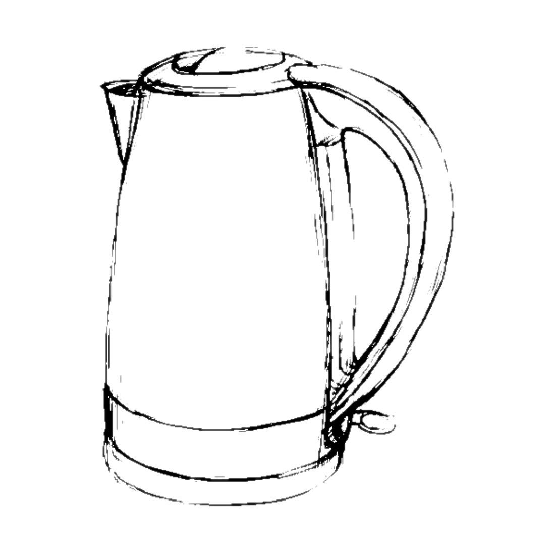 Картинки раскраски чайники