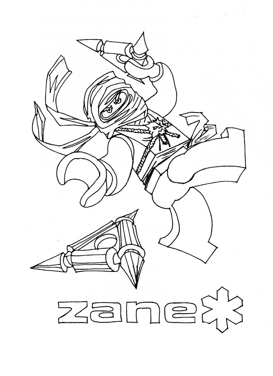 Зейн из Лего Ниндзяго - раскраска №1031 | Printonic.ru
