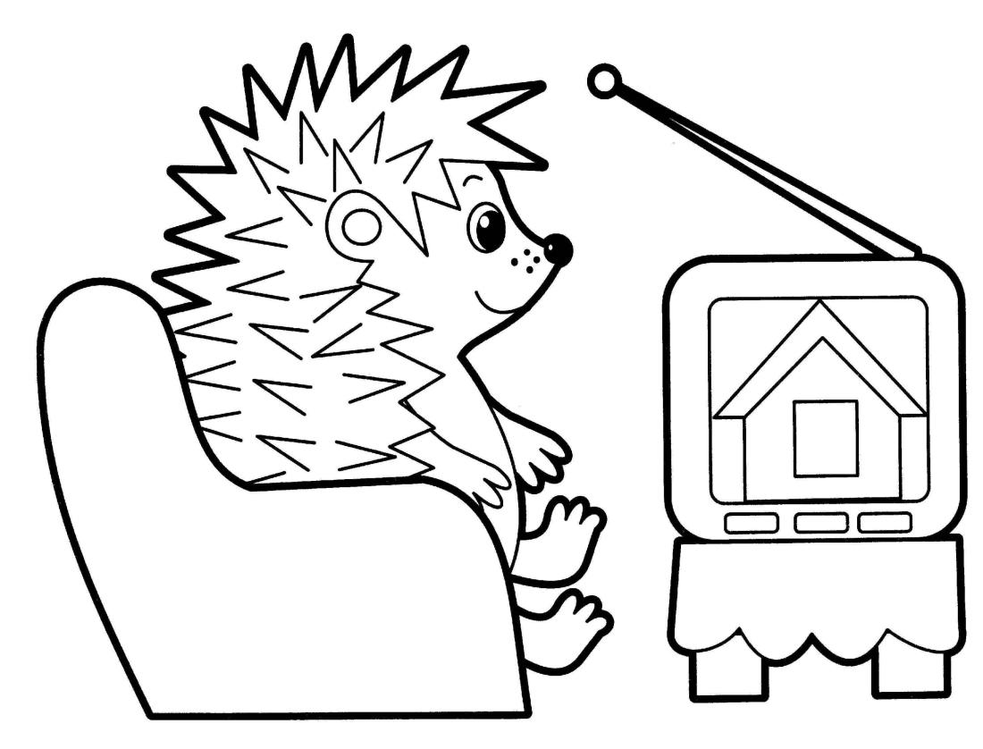 Смотреть телевизор картинки для детей раскраски