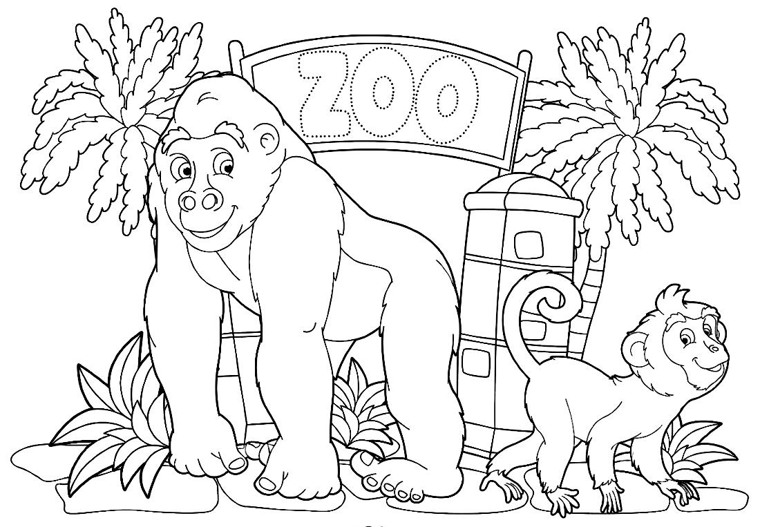 Картинки зоопарка карандашом