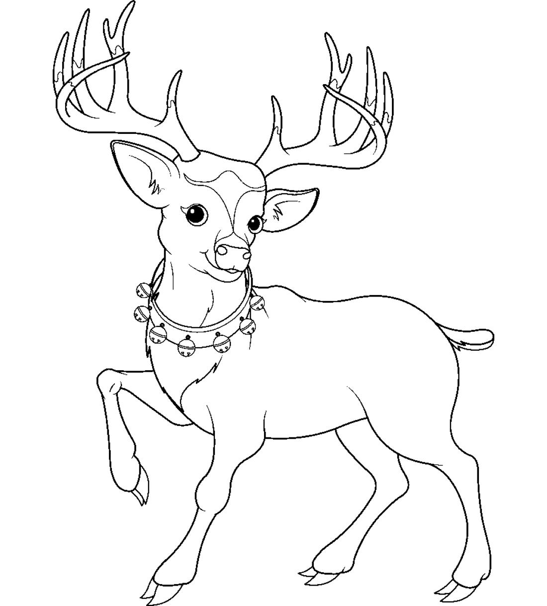 Олень с бубенцами - раскраска №7554 | Printonic.ru