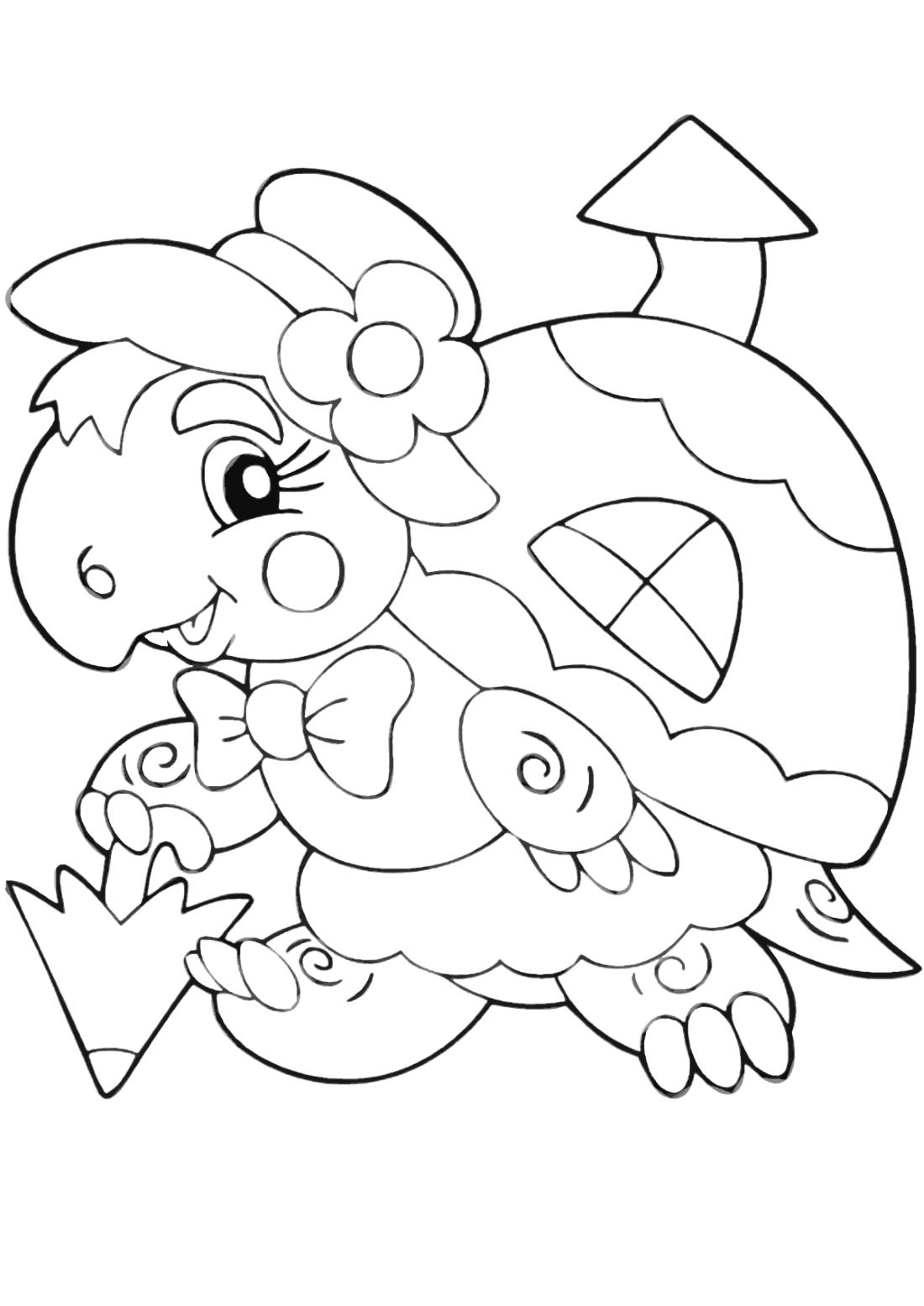 Черепаха с домиком - раскраска №10802 | Printonic.ru