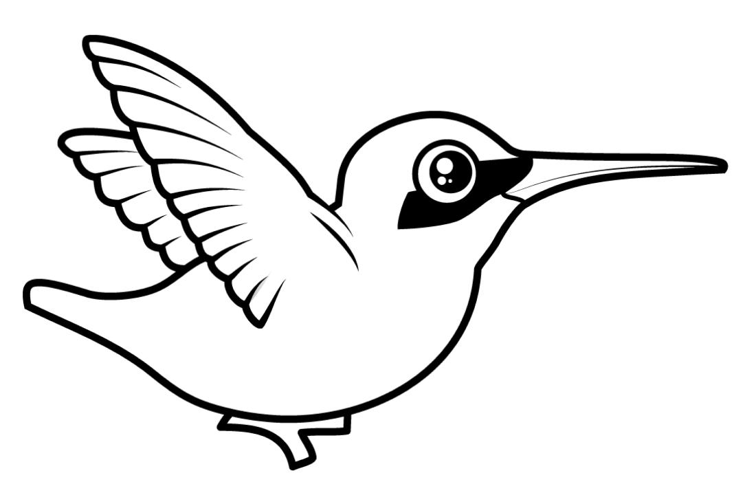Птичка раскраски распечатать