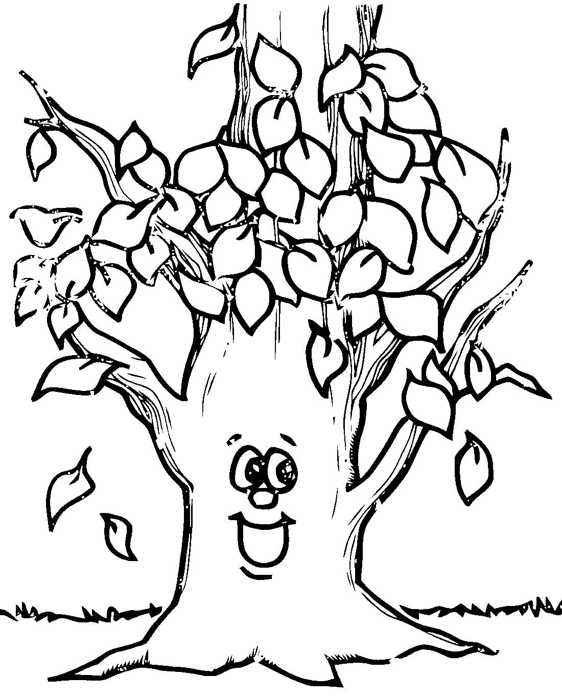 Деревце с листочками - раскраска №12308   Printonic.ru