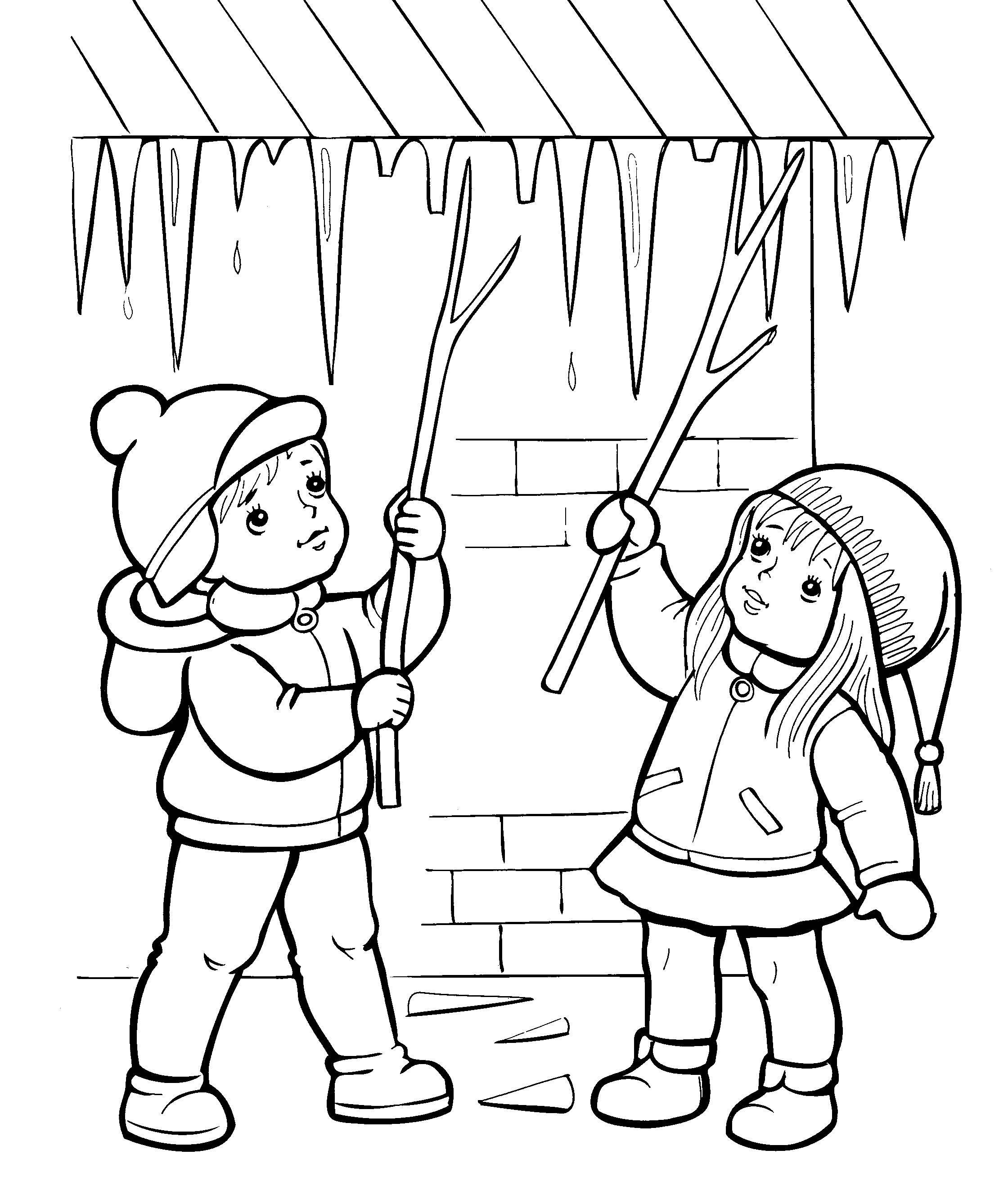 Детские картинки раскраски о весне для