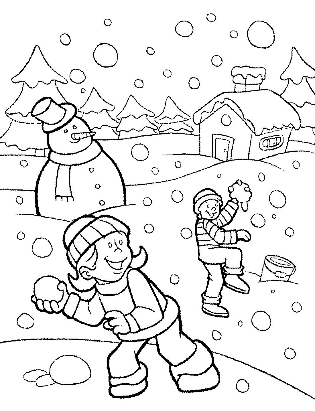 Раскраски на тему зимы картинки для детей