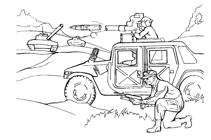 Военные действия  раскраска №2818  printonicru