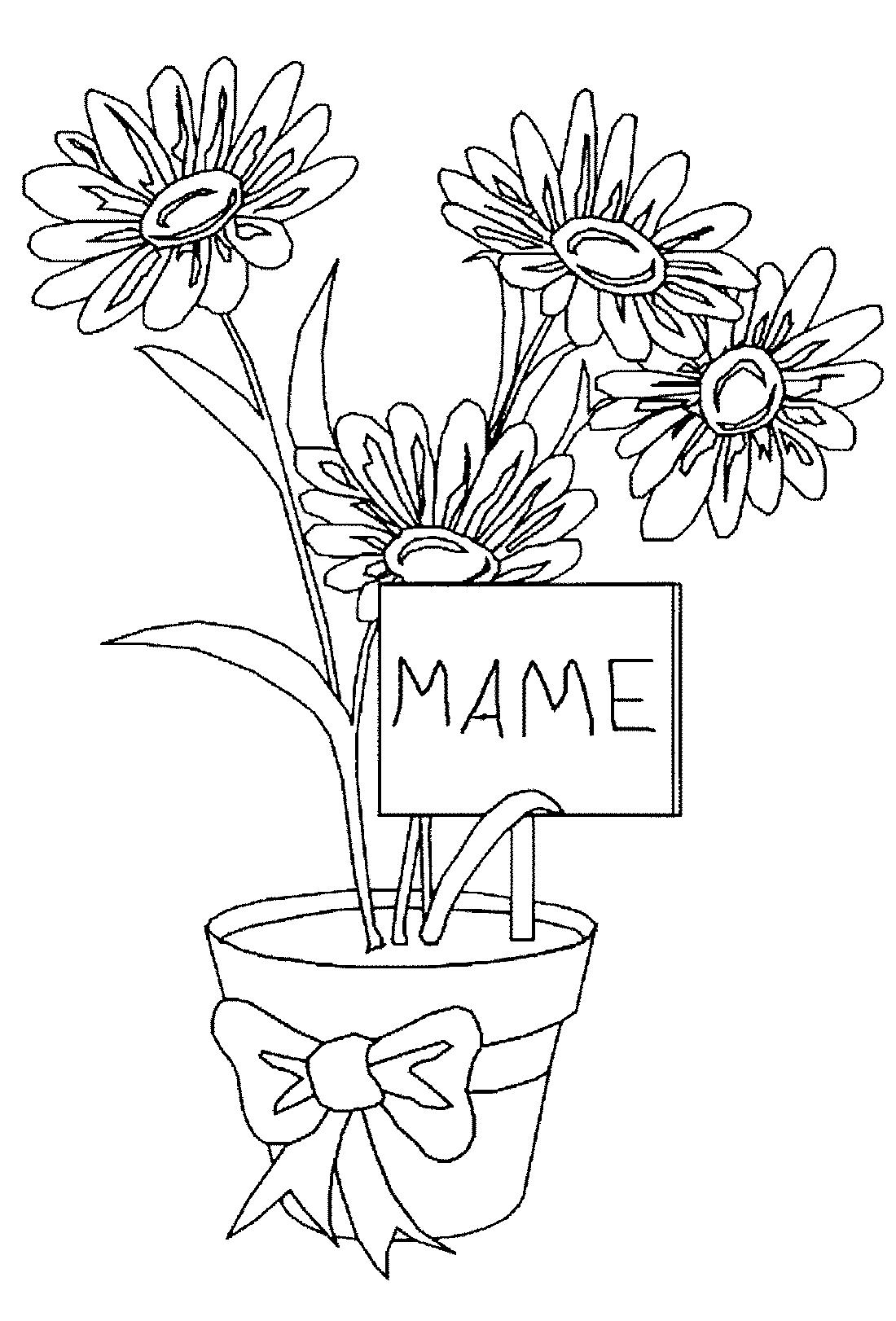 Цветы для мамы - раскраска №11766 | Printonic.ru