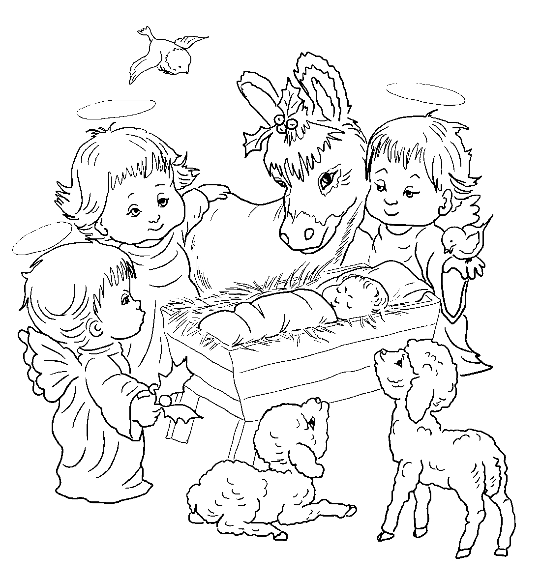 рождество картинки карандашом раскраски другие мелкие куньи