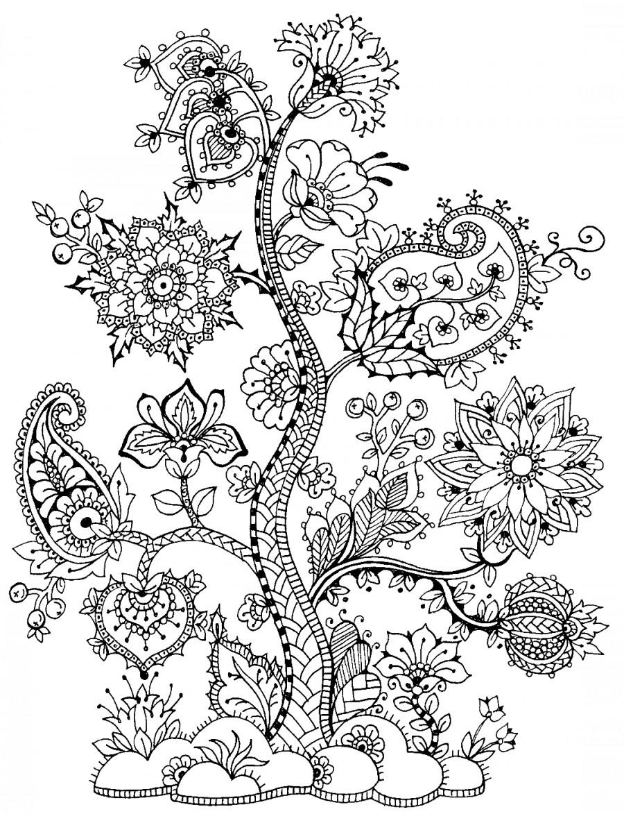 Фантастическое дерево - раскраска №11846 | Printonic.ru