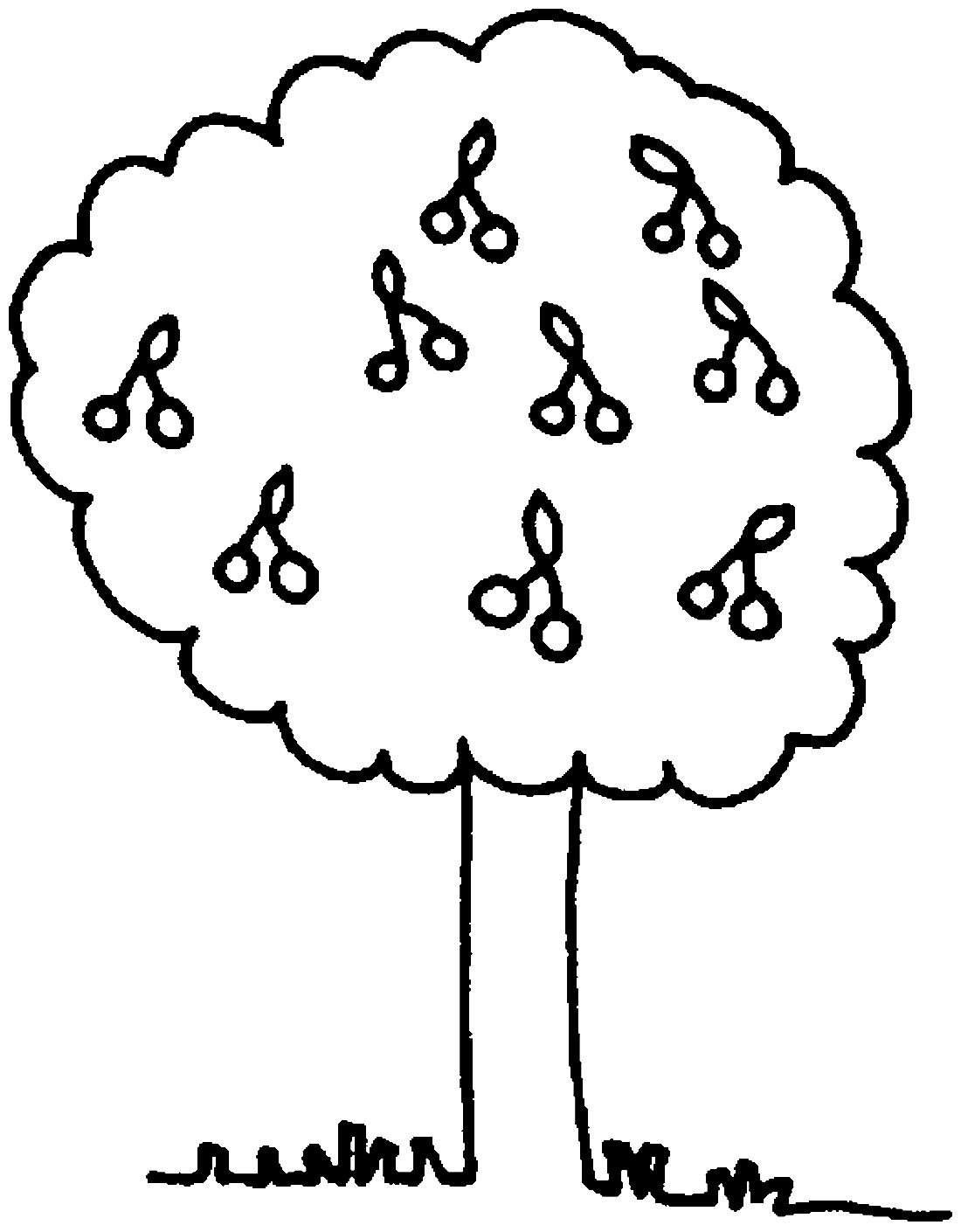Дерево вишни - раскраска №11568 | Printonic.ru