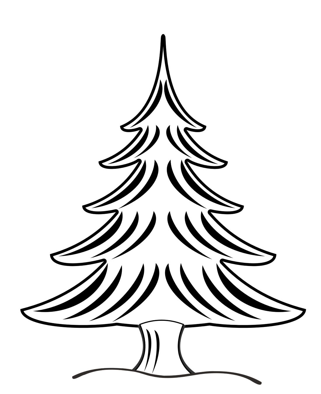 Фигурная елка - раскраска №13058 | Printonic.ru