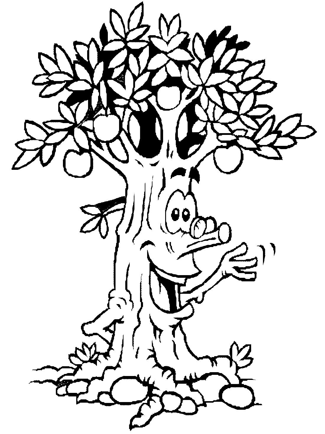Веселое яблочное дерево - раскраска №4228 | Printonic.ru