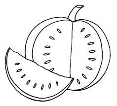 Раскраски арбуз: распечатать или скачать бесплатно ...