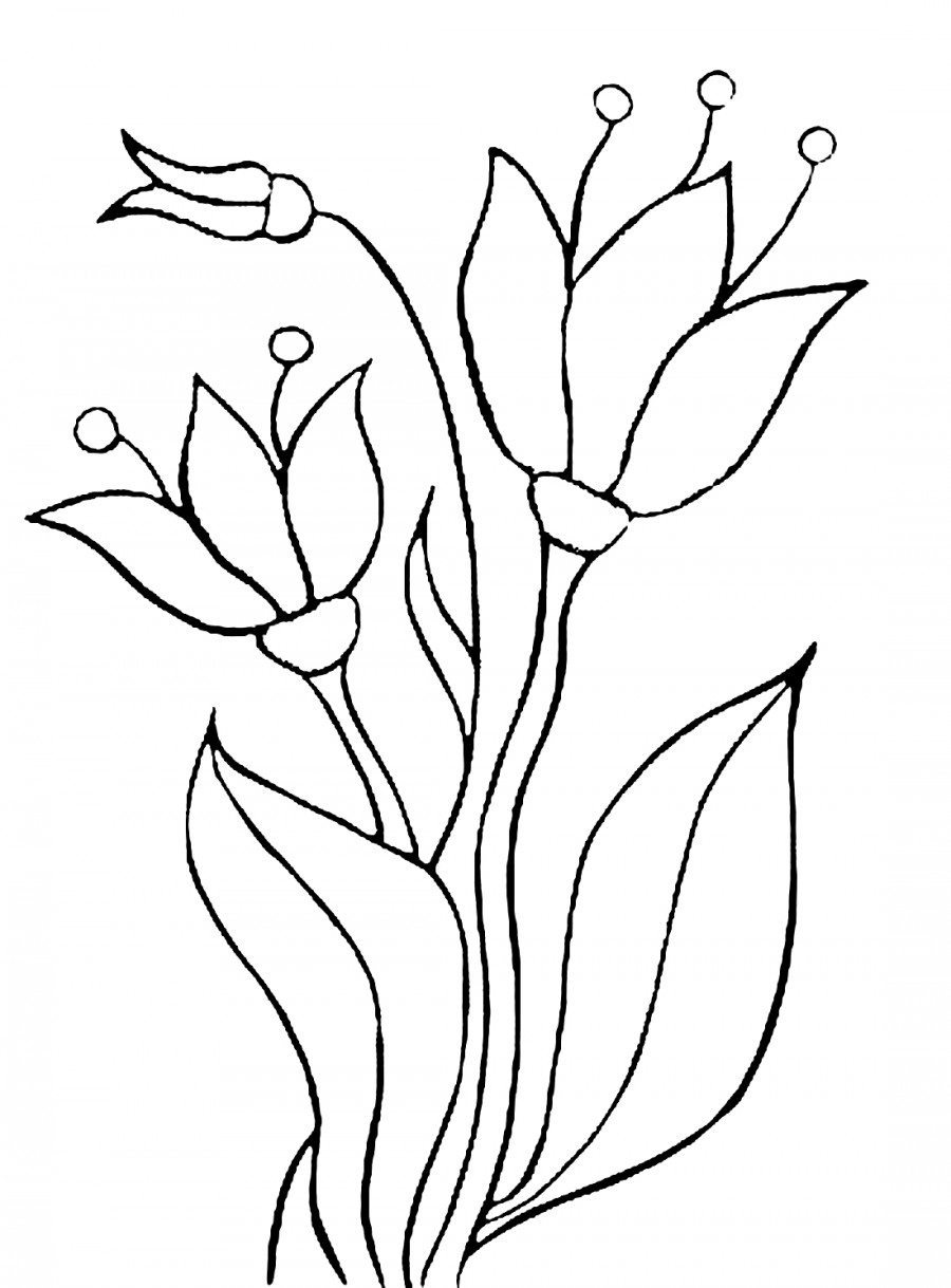 Красивые колокольчики - раскраска №4027   Printonic.ru