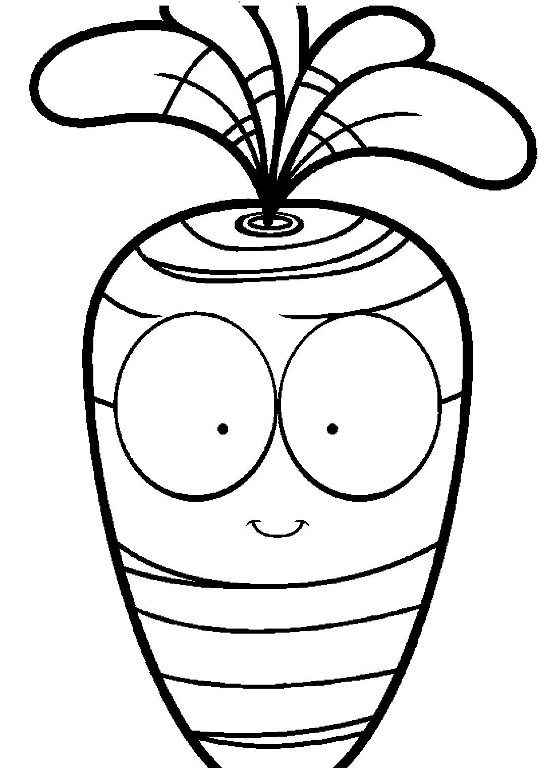 Морковь с большими глазами - раскраска №10521 | Printonic.ru