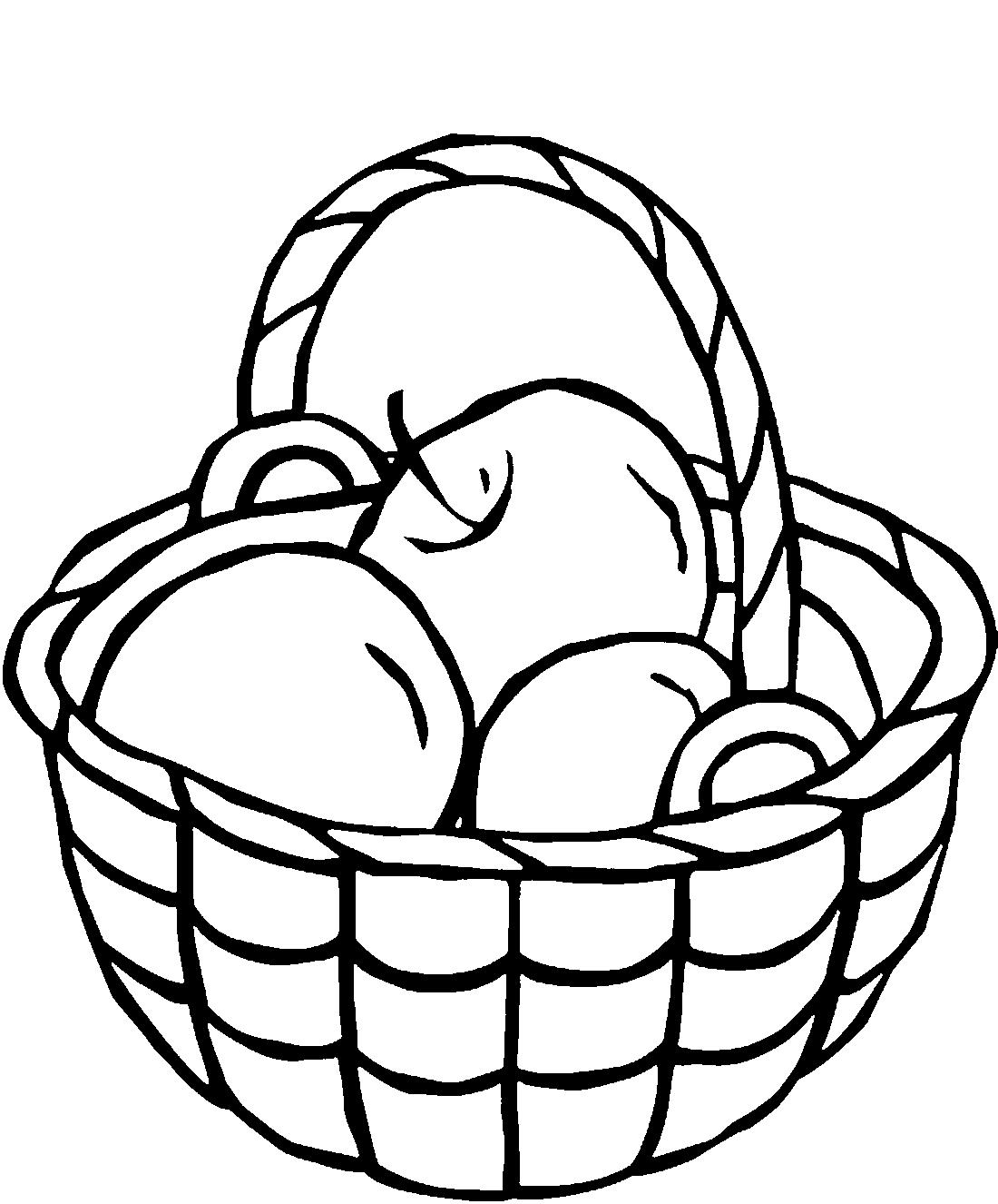 Яблоки в корзине - раскраска №13566 | Printonic.ru
