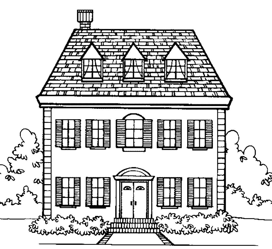 данный нарисовать двухэтажный дом картинки никогда видели