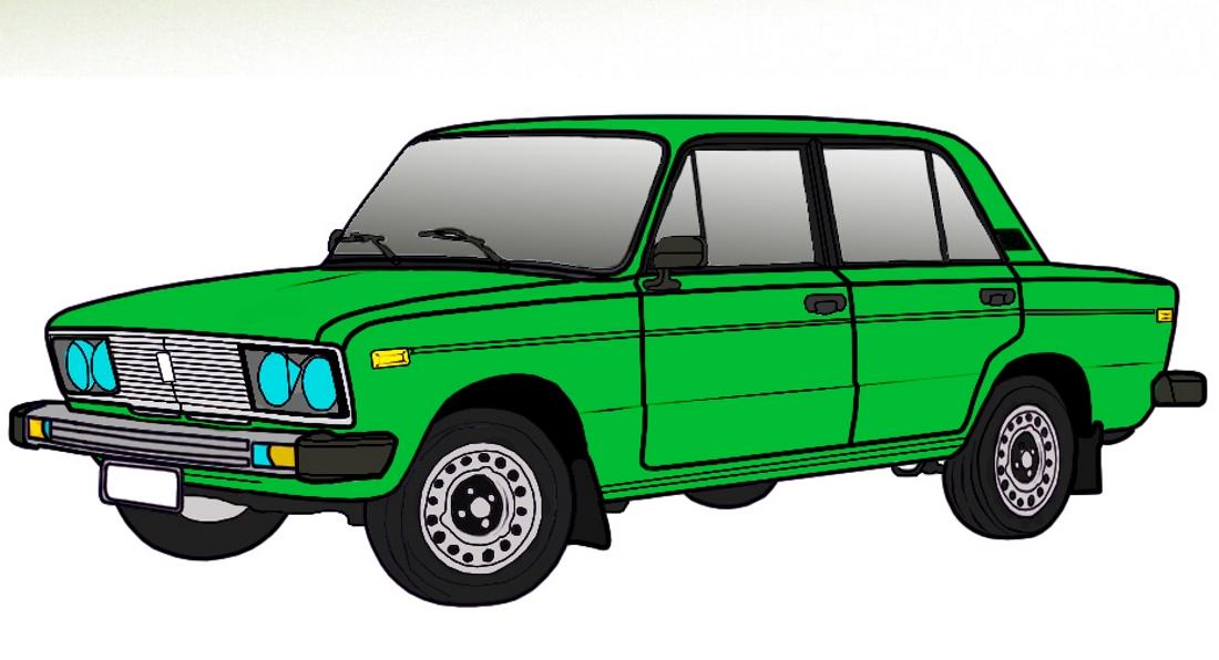 Машина ВАЗ зеленого цвета - картинка №10540 | Printonic.ru
