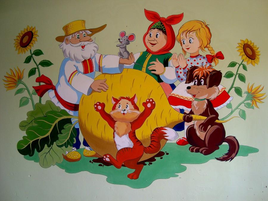 Оформление детского сада в картинках сказки