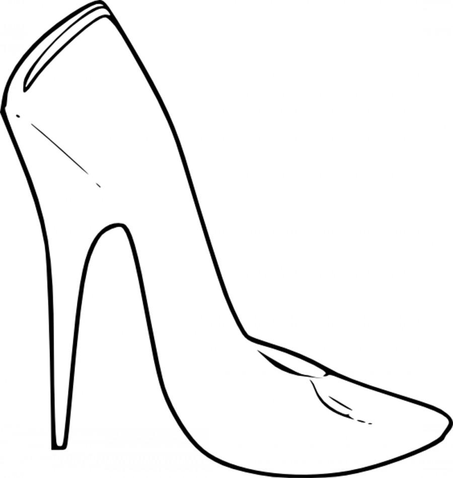 раскраска туфельки распечатать отверстие