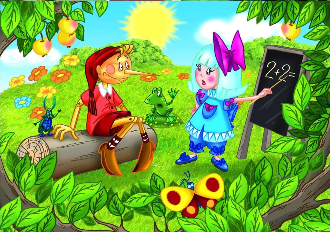 Герои мультфильмов и детских сказок в картинках