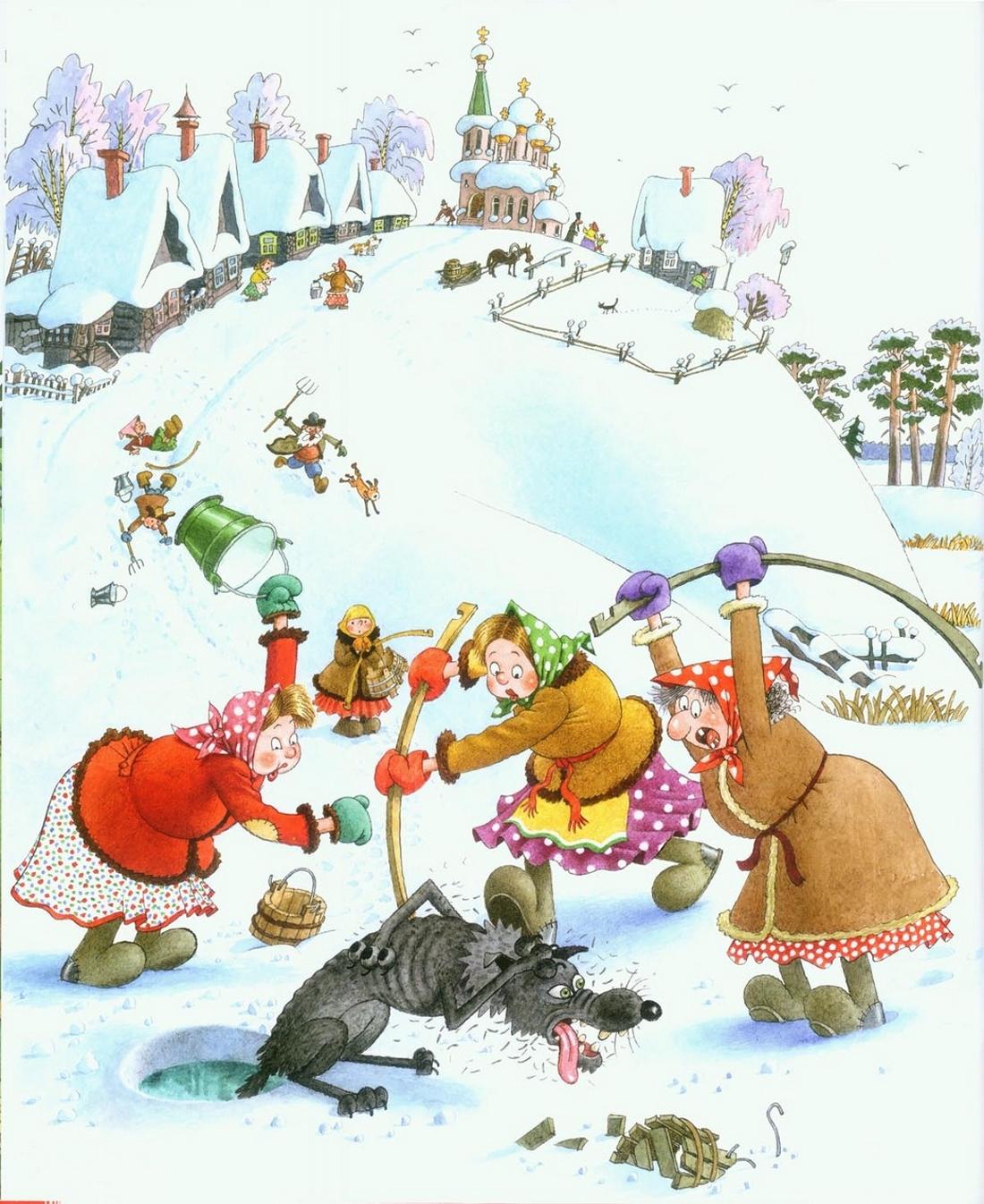 Рисунок сказки Лиса и Волк - картинка №12769 | Printonic.ru