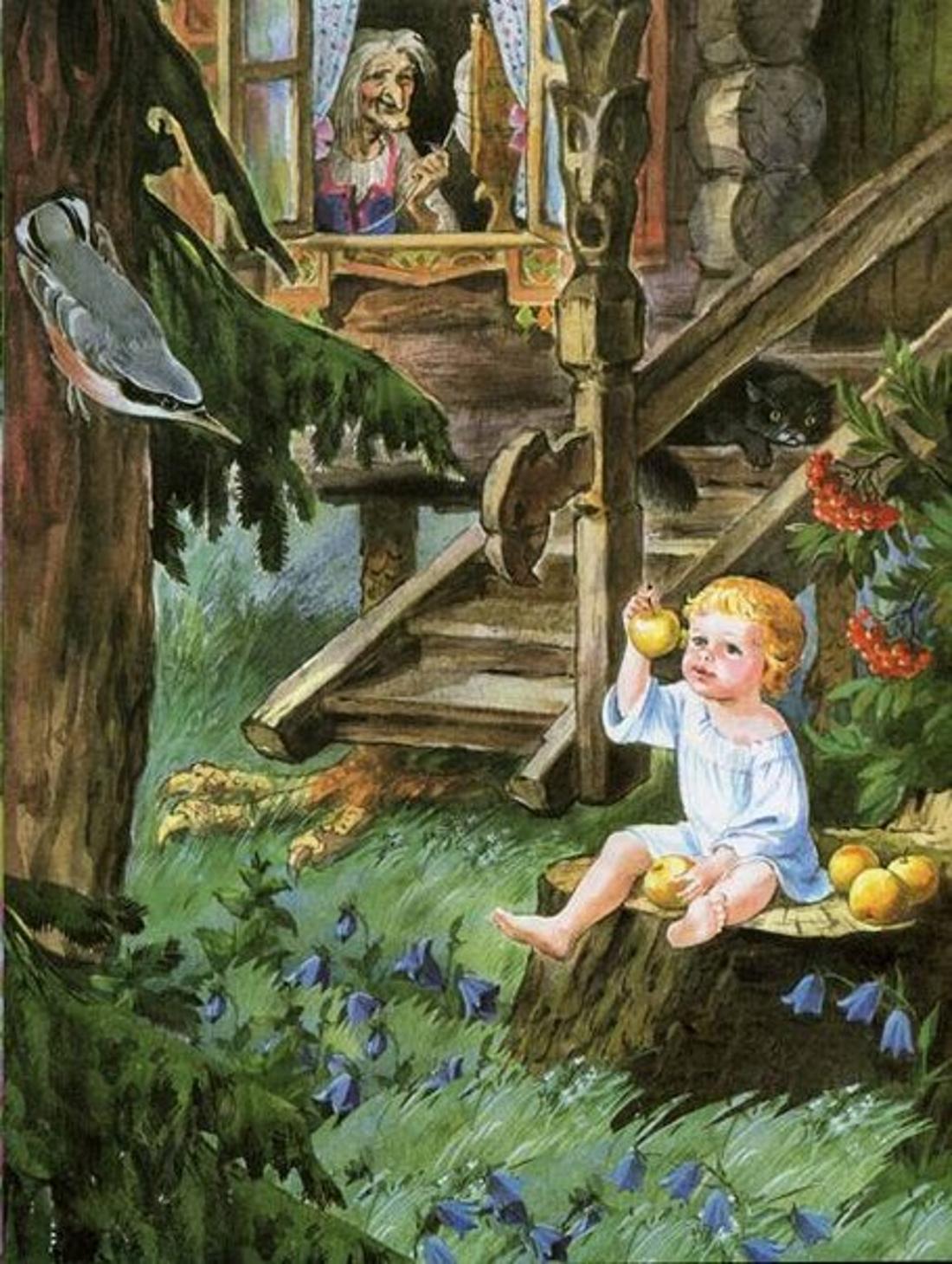 Картинки к иллюстрации к сказки гуси лебеди