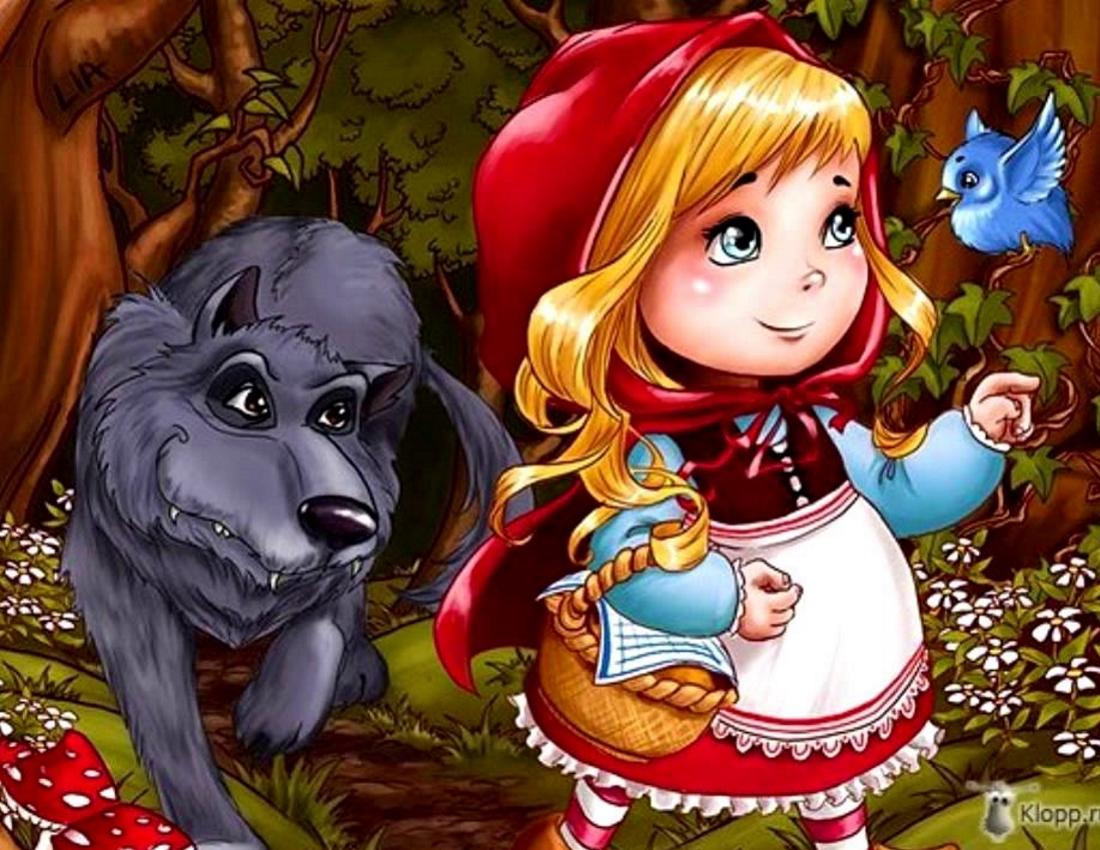 Красная шапочка с волком картинки