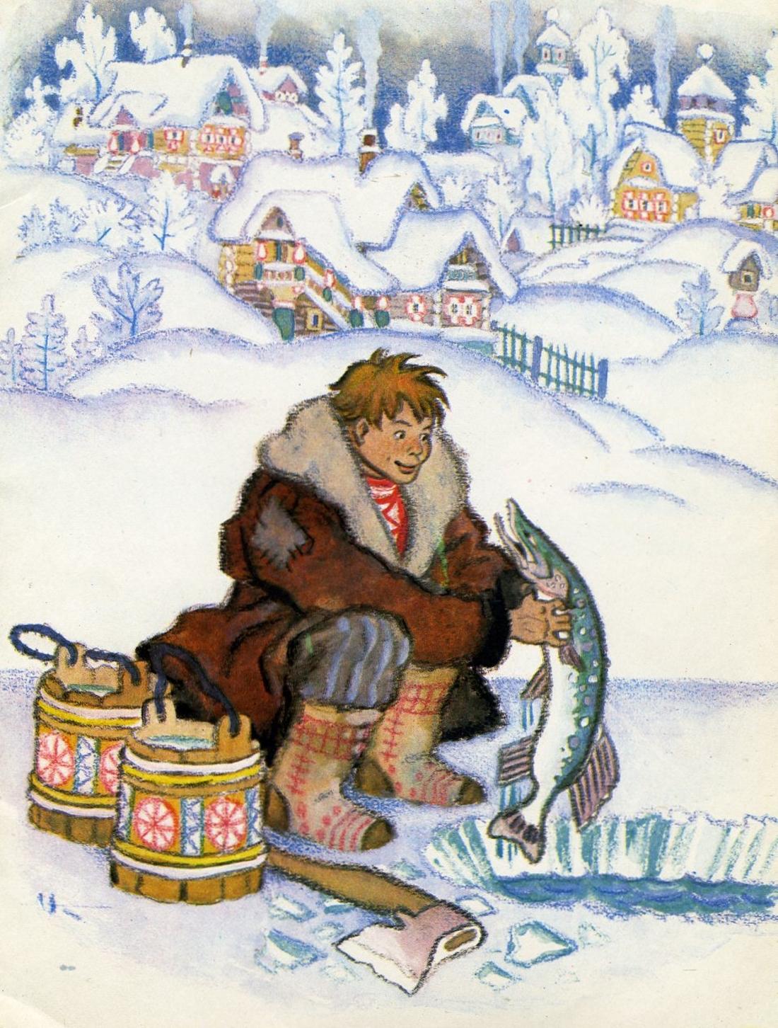 картинки к сказке емеля и щука боярская соблюдает