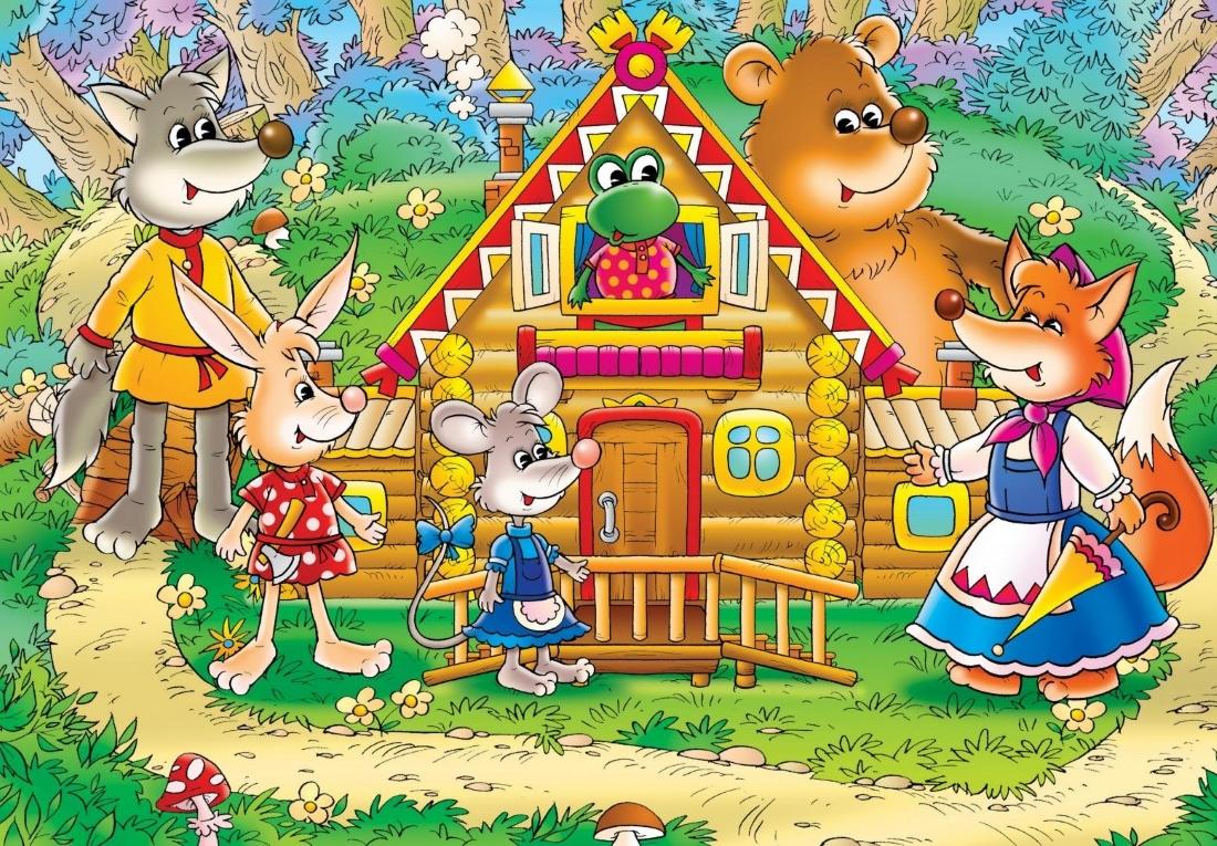 Детские картинки из сказки теремок