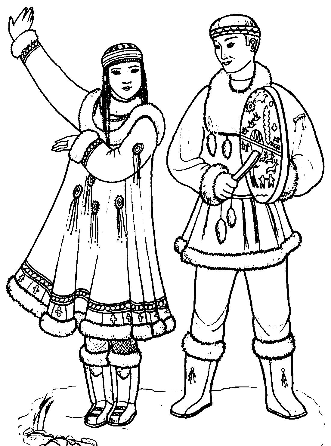 Буряты национальный костюм картинки для детей окружающий