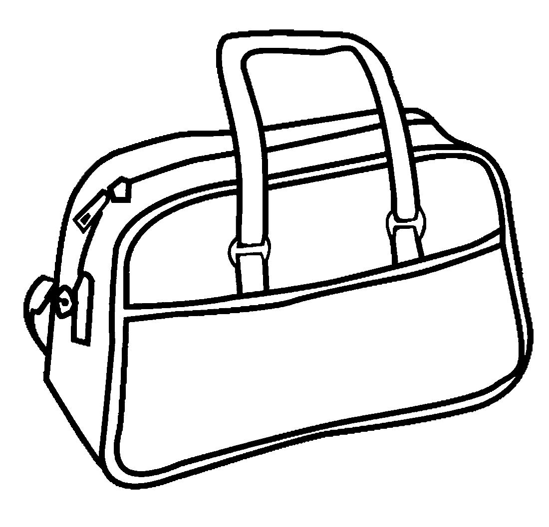 сумка картинка черно белая перегородка