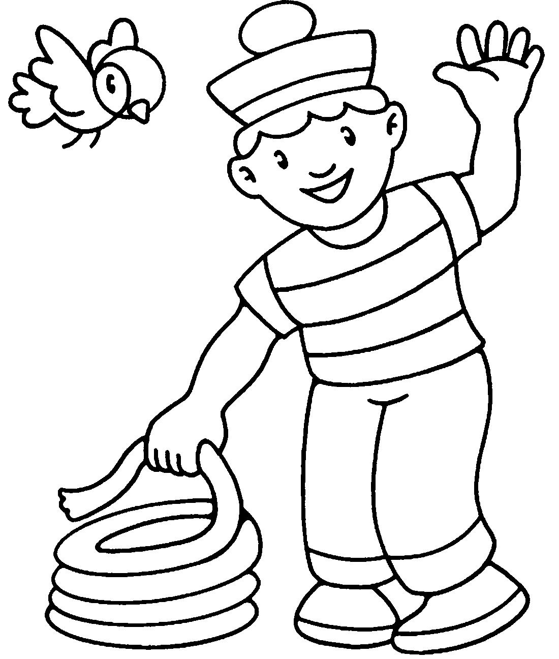 Картинки моряков для детей раскраски