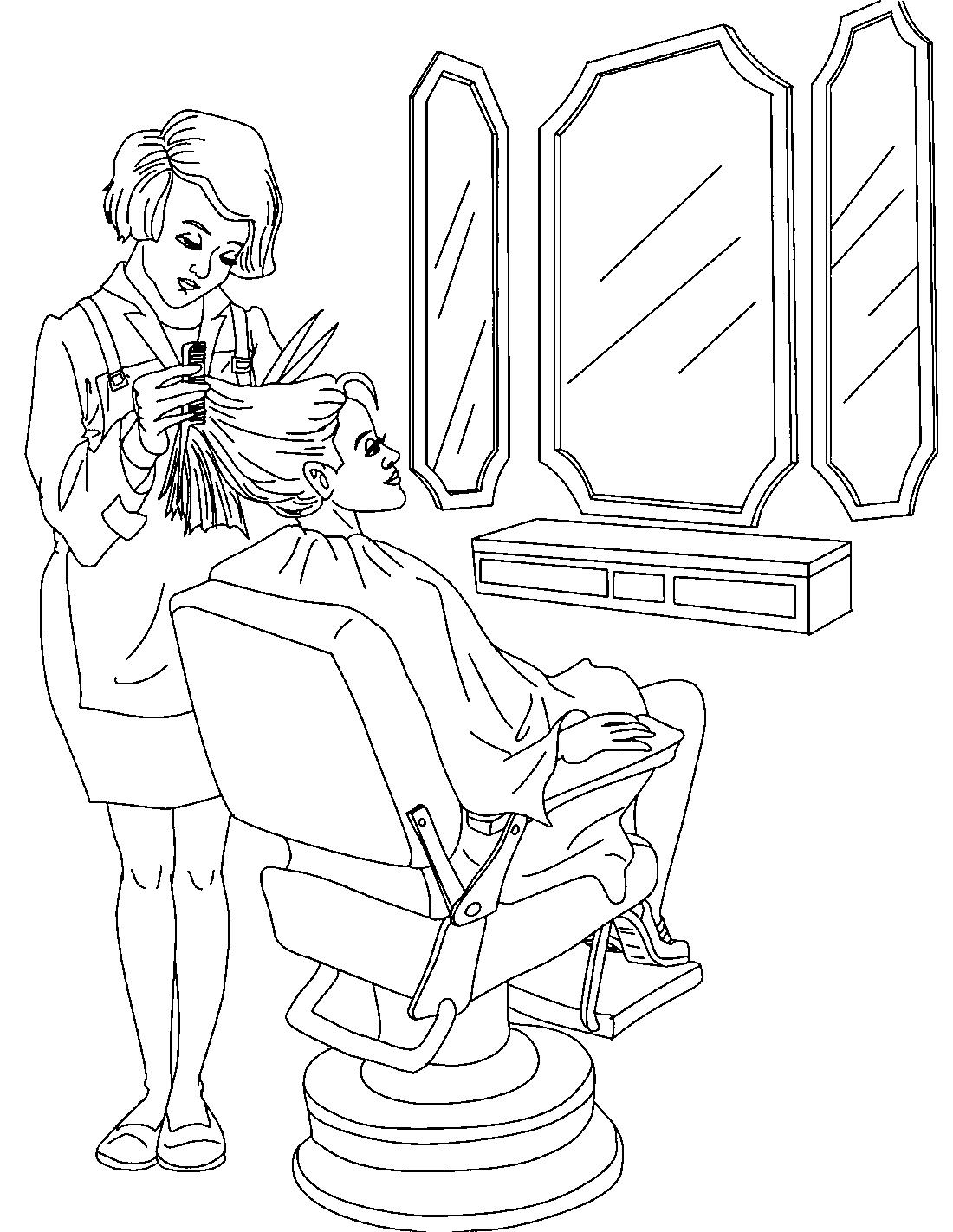 Картинки нарисованные парикмахер