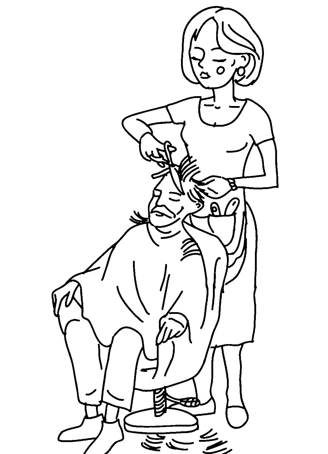 Рисунок парикмахера картинки