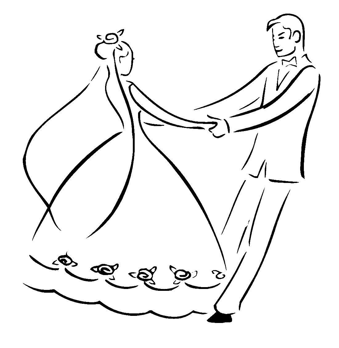 Рисунки к свадьбе прикольные карандашом