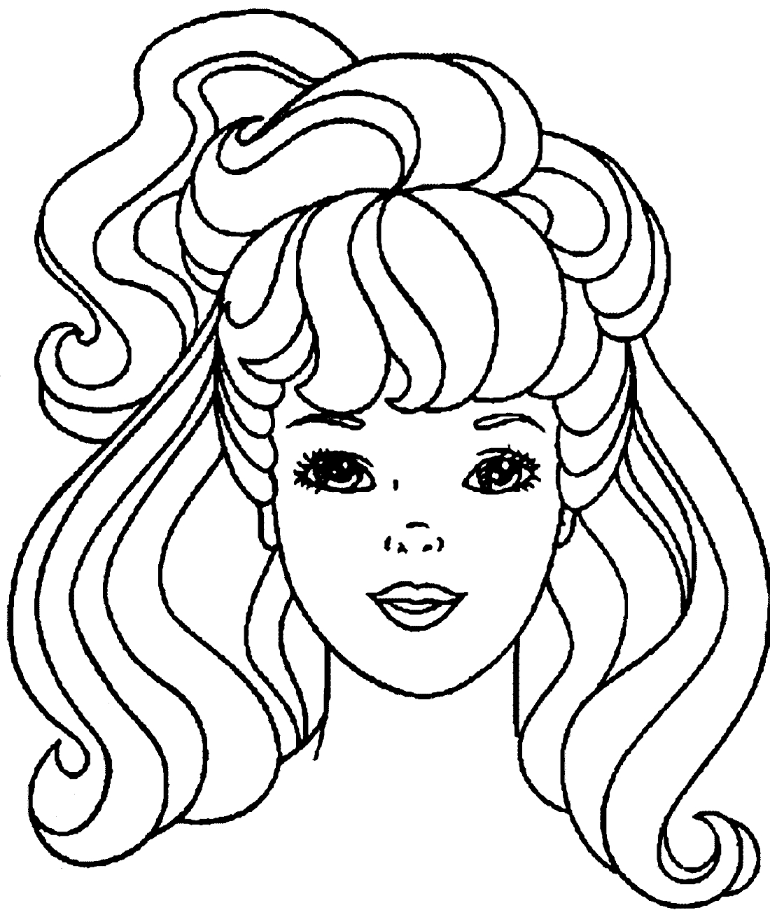 Раскраска прически для девочек онлайн