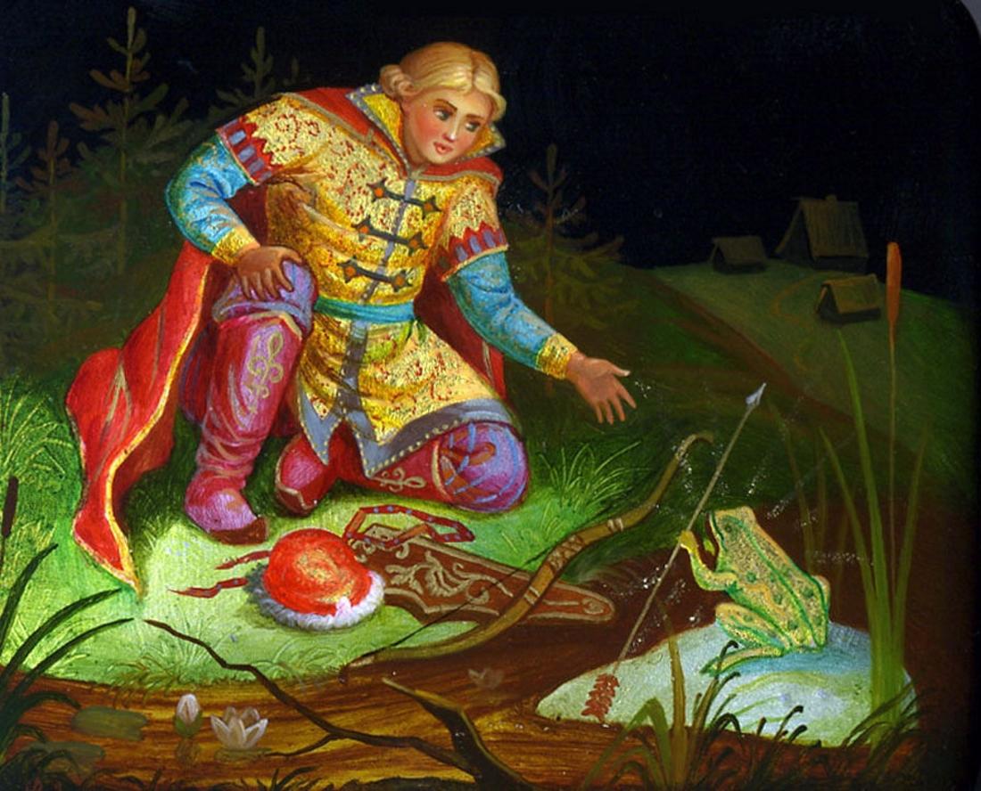 Картинка про ивана царевича и лягушку
