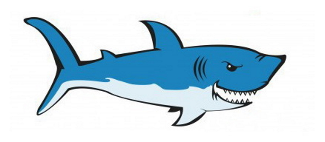 Рисунок злой акулы - картинка №8555 | Printonic.ru
